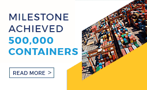 Milestone Achieved – 500,000 Containers